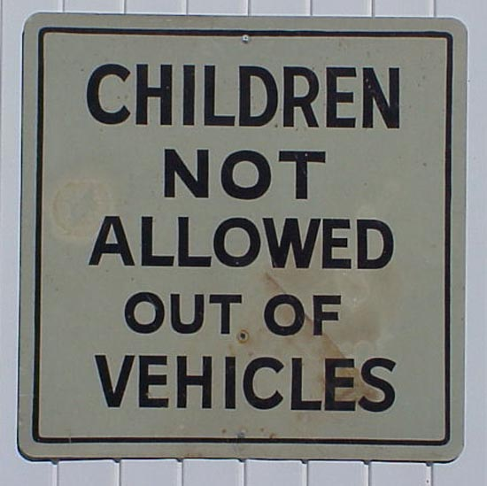 childen not permitted